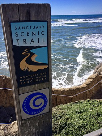 California Coastal Trail - Trail sign for California Coastal Trail near Capitola, California.
