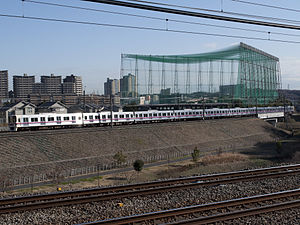 Training running on Keio Sagamihara Line.jpg