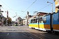 Trams in Sofia in front of Central Market Hall 2012 PD 08.JPG