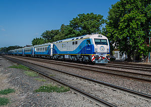 China CNR - A CNR CKD8G train operated in Argentina for Trenes Argentinos.