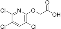 Skeletal formula of triclopyr