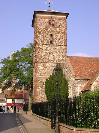 History of Colchester - Trinity Church, Colchester with its 11th Century Saxon church tower