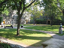 Trinity quadrangle as it appeared before the 2007-2008 academic year