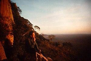 Tsavo West National Park - Below Kitchwa Tembo cliffs at dawn.