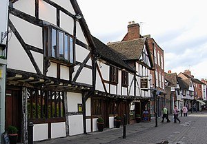 Worcester - Tudor buildings in Friar Street
