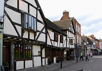 History of Worcester - Tudor buildings in Friar Street
