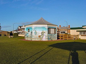 Tumby Bay, South Australia - Tumby Bay Foreshore Park with mural