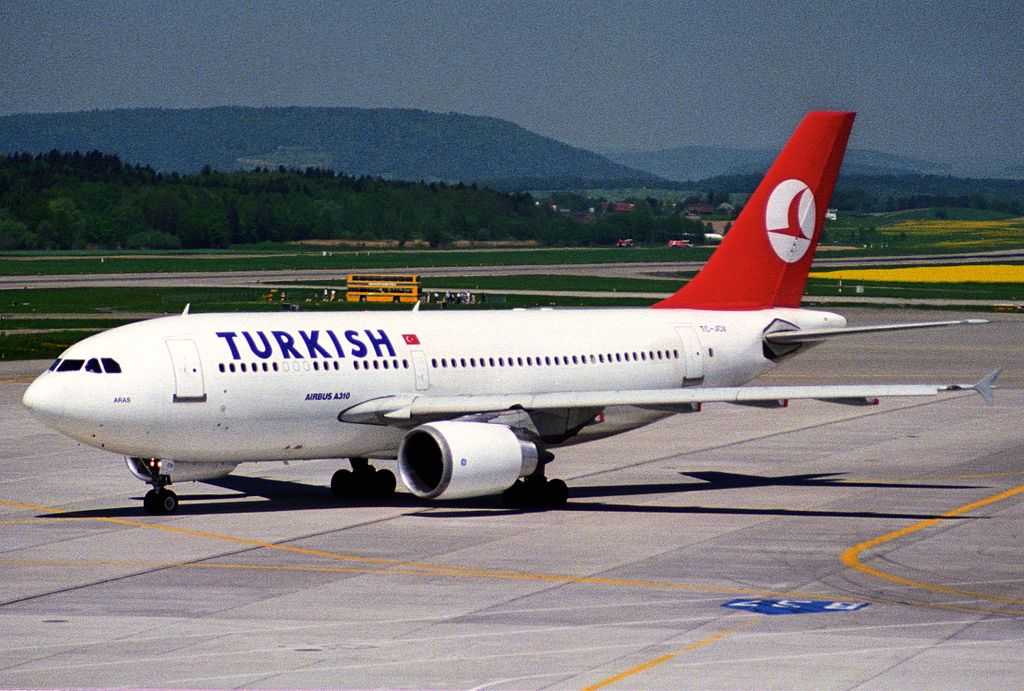 file turkish airlines airbus a310  tc