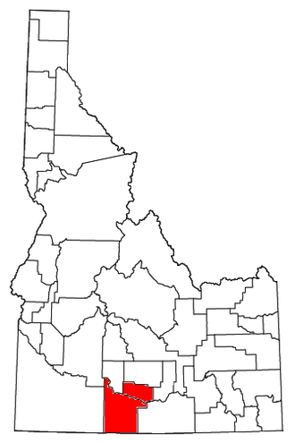 Twin Falls, Idaho metropolitan area - Location of the Twin Falls Metropolitan Statistical Area in Idaho
