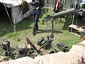 Two Granatnik wzór 36 grenade launchers, Browning wzór1928 light machine gun and Ciężki karabin maszynowy wzór 30 heavy machine gun during the VII Aircraft Picnic in Kraków 2.jpg