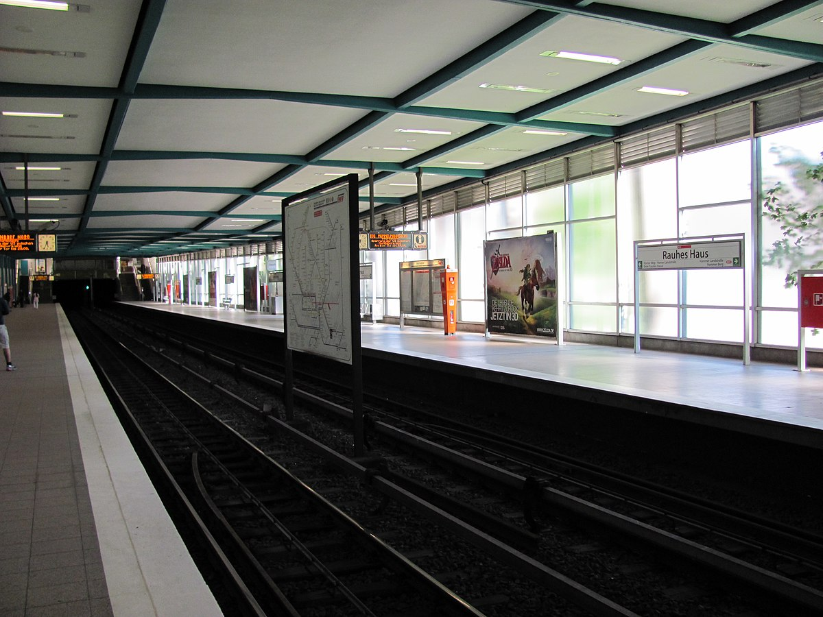 Rauhes Haus Hamburg U Bahn station