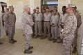 U.S. Marine Corps Gen. James F. Amos, center left, the commandant of the Marine Corps, and Sgt. Maj. of the Marine Corps Micheal P. Barrett, left, visit with Marines and Sailors assigned to Special Purpose 130616-M-LU710-015.jpg