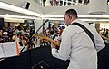 U.S. Navy Musician 1st Class Brian Nefferdorf, assigned to the U.S. 7th Fleet Band ensemble Orient Express, performs during a joint concert with the Royal Thai Navy Band at the Royal Garden Plaza in Pattaya 130608-N-YU572-029.jpg