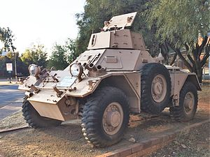 Ferret armoured car - Ferret Mk2 of the South African Defence Force.