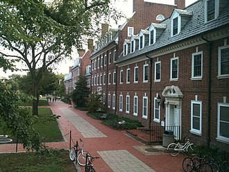 University of Delaware - Brown and Sypherd Hall; residence halls on the North Green
