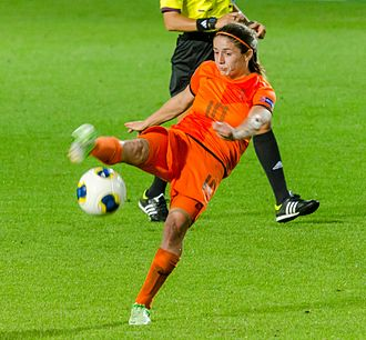 Daniëlle van de Donk - Van de Donk playing for Holland in the 2013 Euros