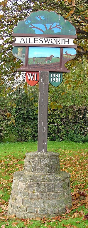 Ailsworth - Signpost in Ailsworth