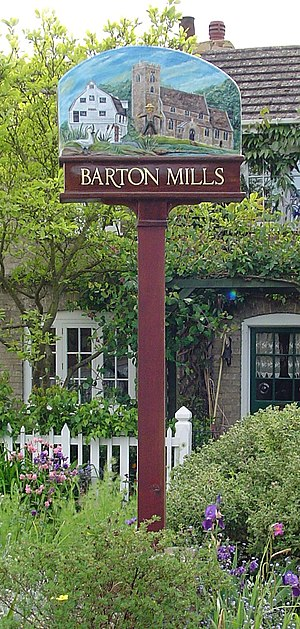 Barton Mills - Signpost in Barton Mills