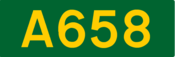 A658 road shield