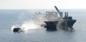 USNS Montford Point (T-ESD-1) - A LCAC after launching from Montford Point.