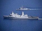 USS Arlington (LPD-24) underway with the Turkish frigate TCG Gediz (F495) on April 2916.JPG