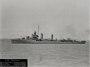 USS Coghlan (DD-606) - Image: USS Coghlan