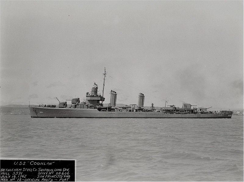 La bataille navale des îles Komandorski 800px-USS_Coghlan