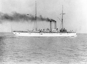 USS Denver at the North Atlantic Fleet review in 1905