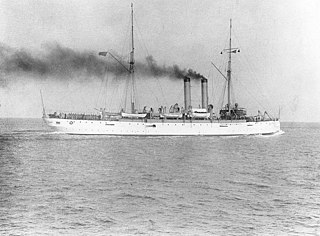 cruiser commissioned in 1904 and in service until 1931