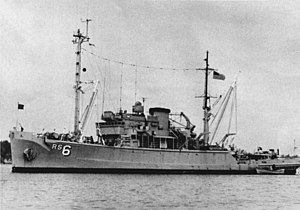 USS Escape (ARS-6) - USS Escape (ARS-6) on Lake Timsah 1974