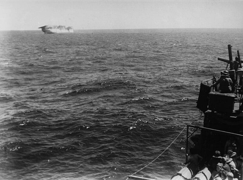 File:USS Langley (AV-3) sinking 1942.jpg