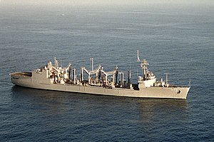 USS Roanoke (AOR-7) underway off the coast of Guantanamo Bay, Cuba
