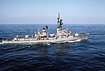 USS Richard E. Byrd (DDG-23) underway off the coast of Lebanon on 5 February 1987 (6422424).jpg