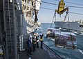 USS San Jacinto conducts a replenishment-at-sea. (11736365215).jpg