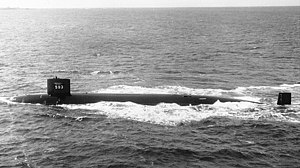 Attack submarine - Image: USS Thresher underway April 1961