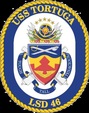 USS Tortuga (LSD-46) - Image: USS Tortuga LSD 46 Crest