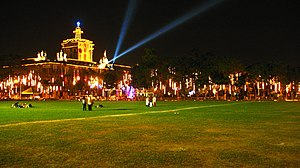 Traditions of the University of Santo Tomas - UST Main Building during Christmas Season