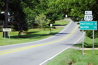 Central Arkansas - U.S. Route 270 in Sheridan, Arkansas.