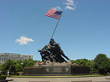 US Marine Corps War Memorial (Iwo Jima Monument) near Washington DC.jpg