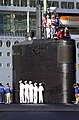 US Navy 040426-N-6268K-026 Sailors aboard the Los Angeles class attack submarine USS Miami (SSN 755), man the rails.jpg