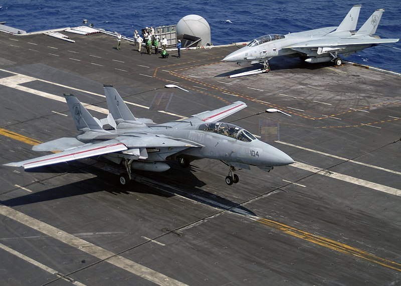 File:US Navy 040521-N-8948F-001 An F-14 Tomcat makes an arrested landing aboard USS Enterprise (CVN 65).jpg