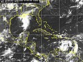 US Navy 050705-N-0000X-002 Satellite image depicting the low cloud reflection of three tropical storms.jpg