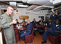 US Navy 080715-N-1082Z-023 Rear Adm. Donald P. Quinn, commander, Strike Force Training Atlantic, holds a question and answer session.jpg
