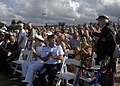 US Navy 090802-N-8539M-567 World War II veterans are applauded during the 64th anniversary of the end of World War II ceremony aboard the battleship USS Missouri Memorial.jpg