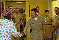 US Navy 090928-N-3289C-085 Vice Adm. Michael Vitale, commander, Navy Installations Command, meets with Lt. j.g. Teri Ryals during a tour of the Naval Hospital Rota maternity ward.jpg