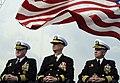 US Navy 091124-N-7478G-330 Capt. Rudy Lupton, prospective commanding officer of the U.S. 7th Fleet command ship USS Blue Ridge (LCC 19), Rear Adm. Richard B. Landolt, commander of Amphibious Force U.S. 7th Fleet.jpg