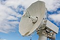 US Navy 110824-N-BA377-035 A radar dish aboard Mobile At-Sea Sensor (MATSS) barge (IX-524) undergoes final testing before upcoming flight test miss.jpg