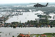 Helicopter survey of flooding in suburban Greater Bangkok, 22 October 2011