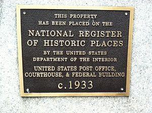 Federal Building (Sacramento) - NRHP Plaque