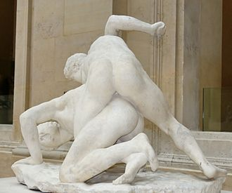 Wrestlers (sculpture) - Philippe Magnier's somewhat weathered copy of c. 1684–87 (Louvre Museum)